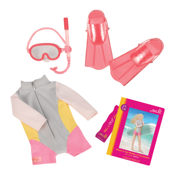Coral Read & Play - Outfit and Book Set for 18-inch Dolls