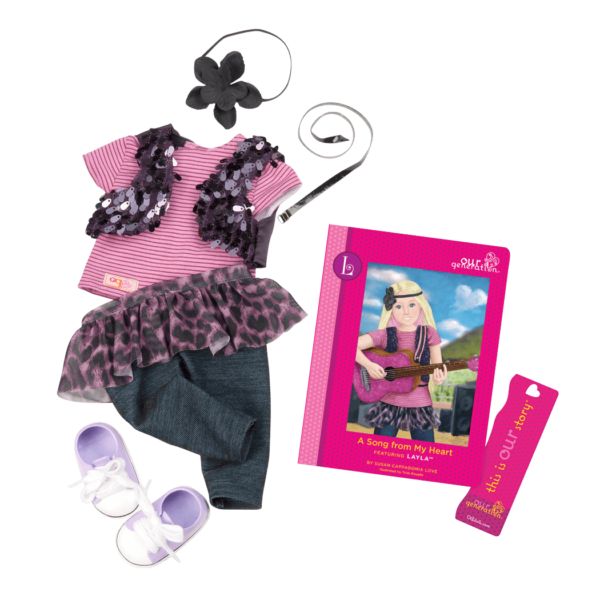Layla Read & Play - Outfit and Book Set for 18-inch Dolls