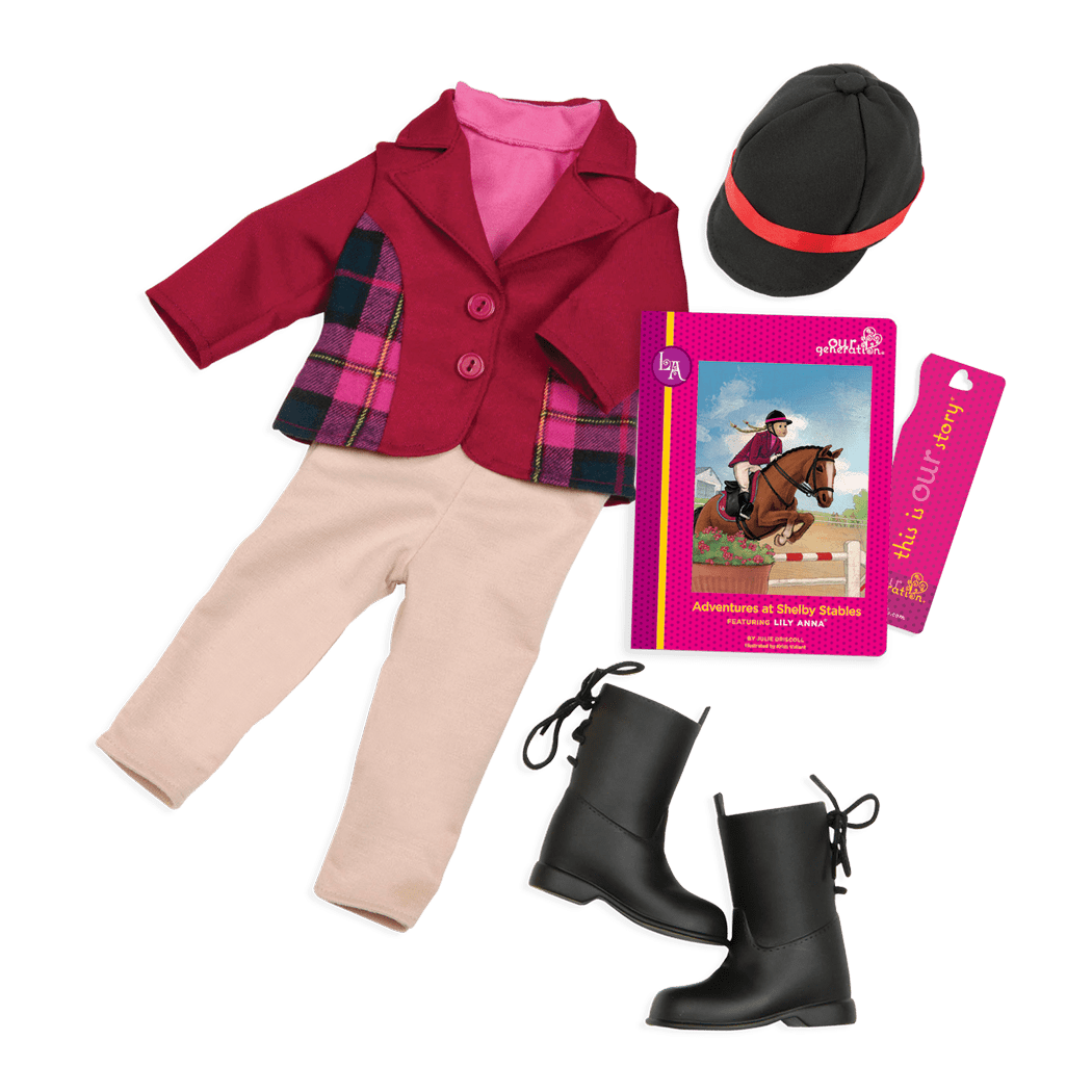Lily Anna Read & Play - Outfit and Book Set for 18-inch Dolls