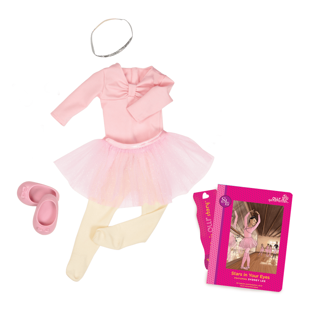 Sydney Lee Read & Play - Outfit and Book Set for 18-inch Dolls