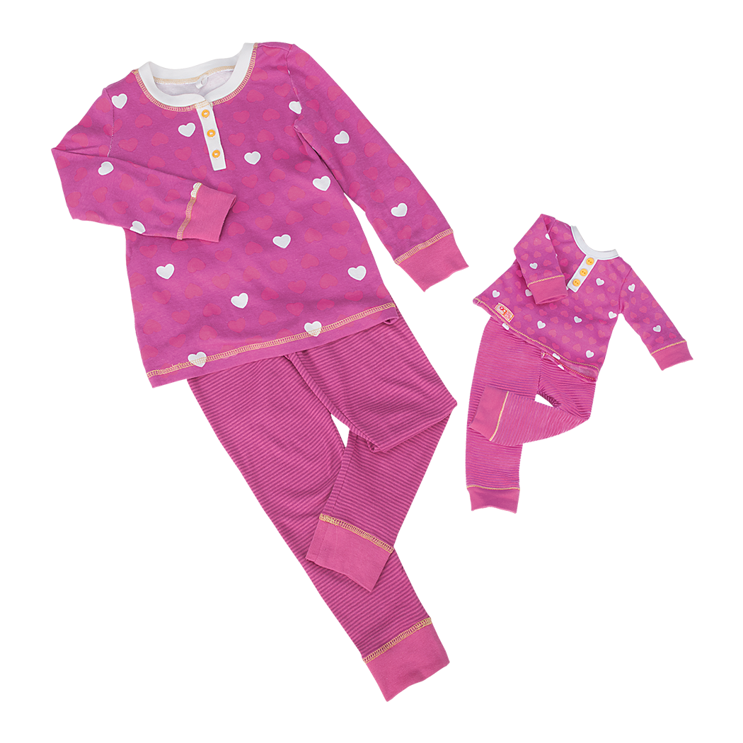 Me and You Pink Heart Pajamas