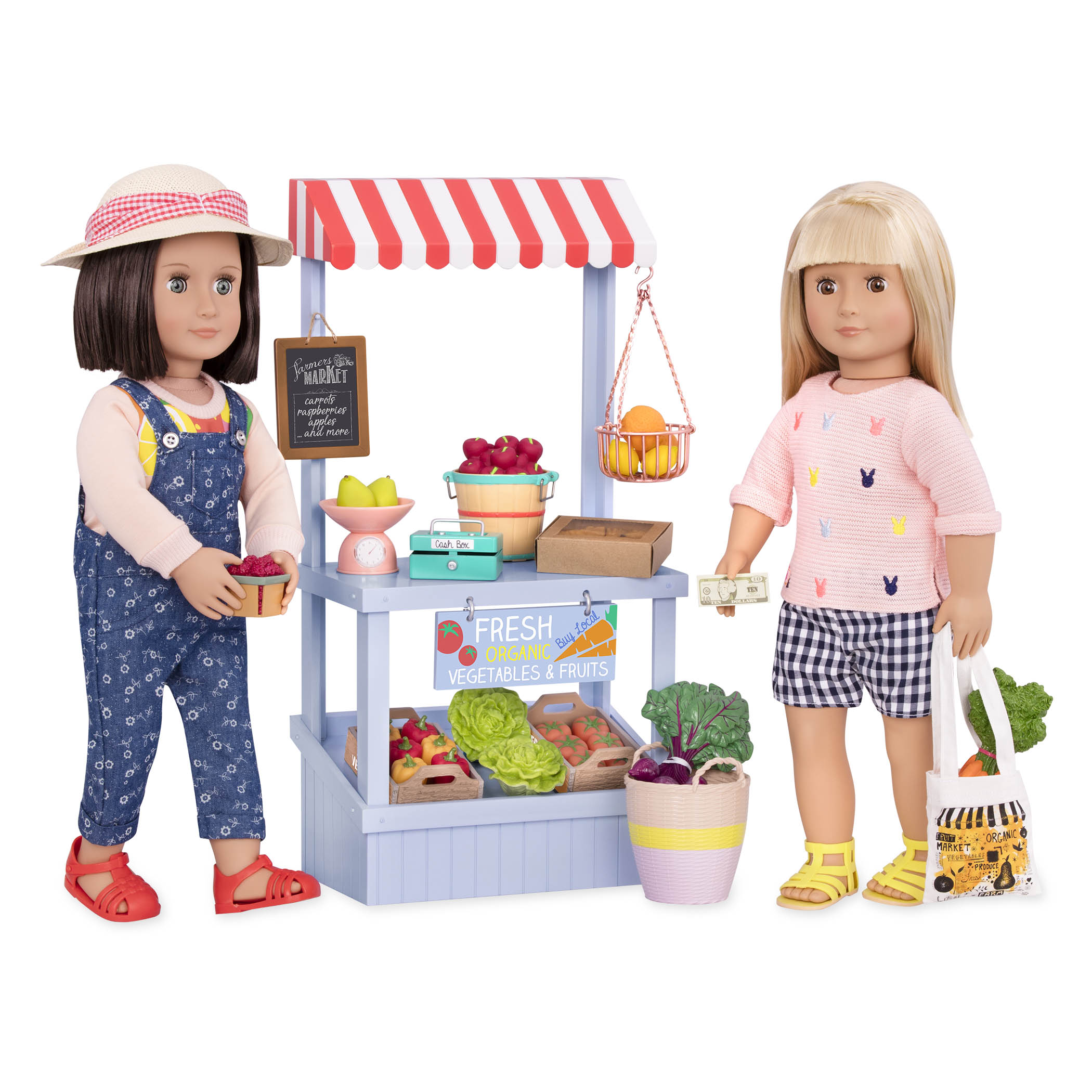 Farmers Market Set with Everly and Rowan