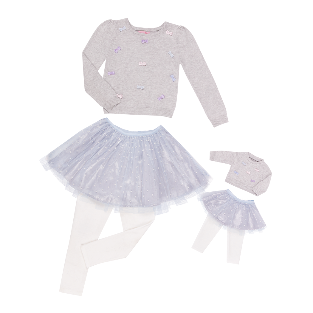 Me and You outfit tulle skirt with sweater