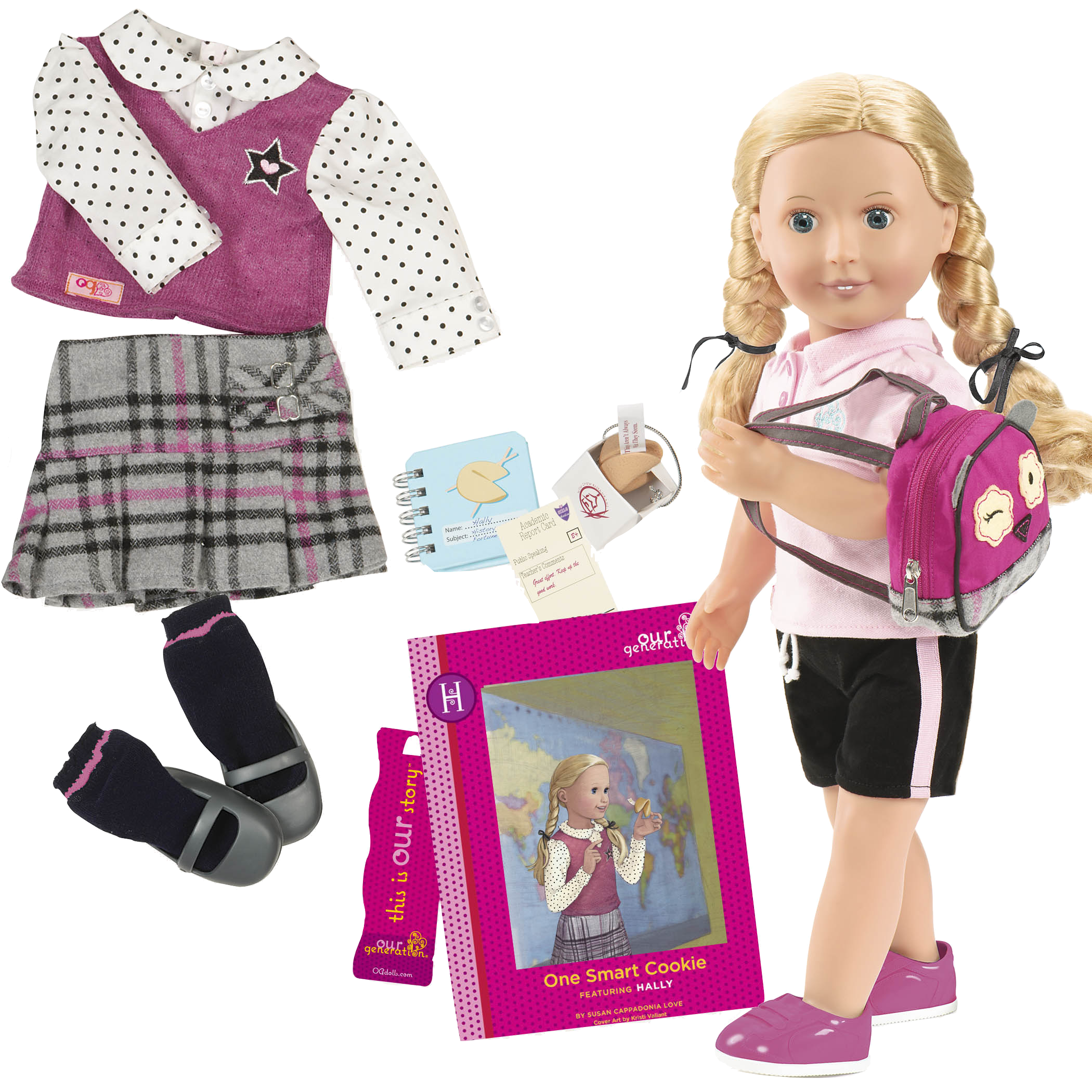 Hally Deluxe 18-inch Doll with Storybook