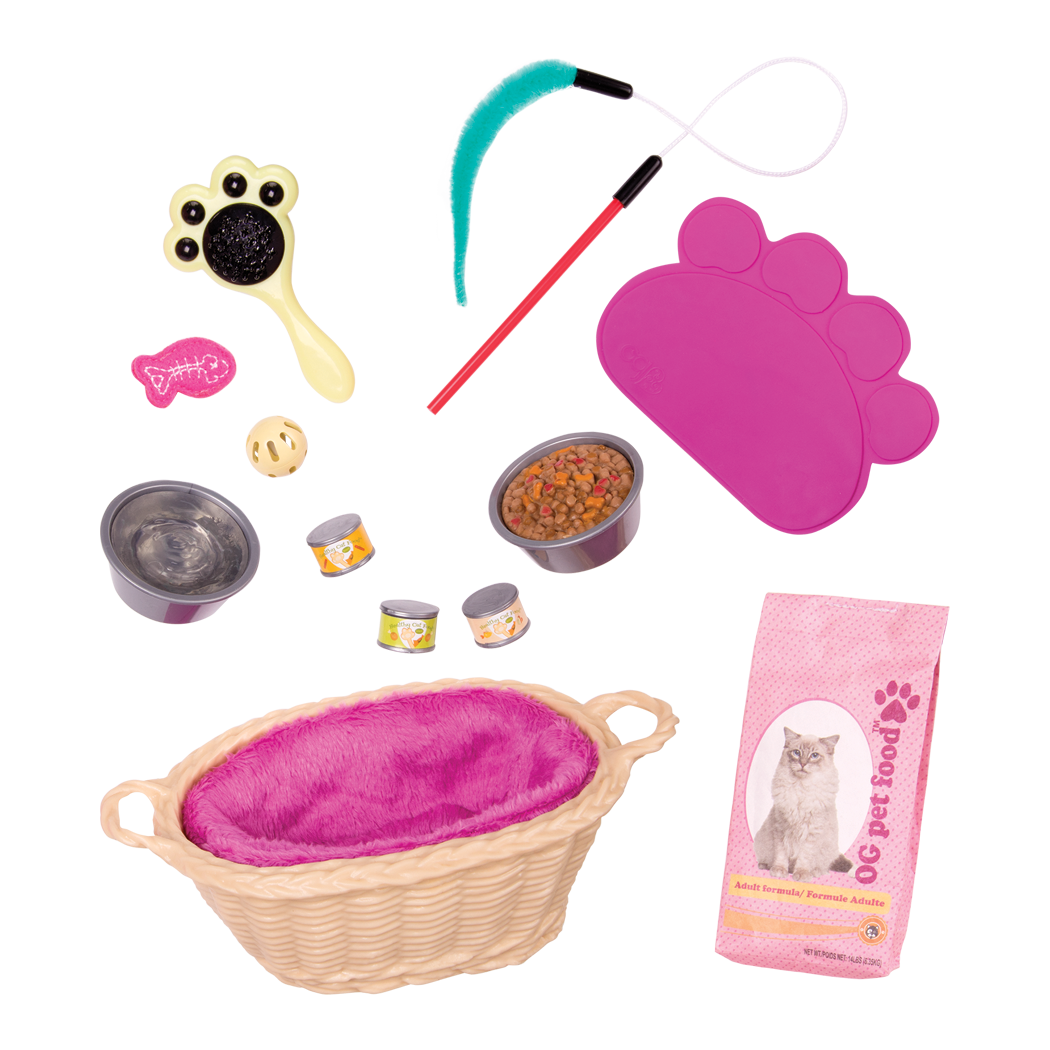 Cat Pet Set for 18-inch Dolls