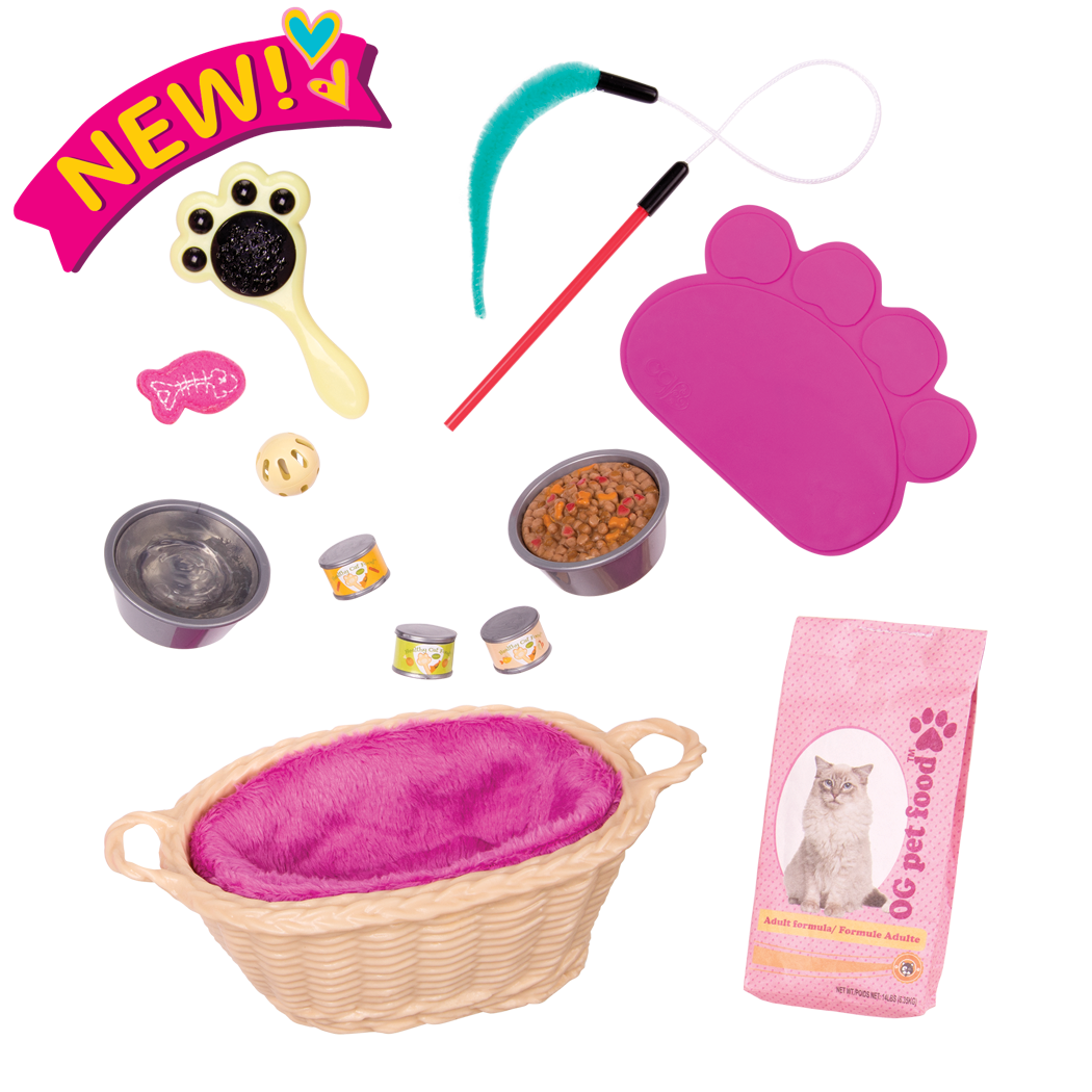 Cat Pet Set for 18-inch Dolls