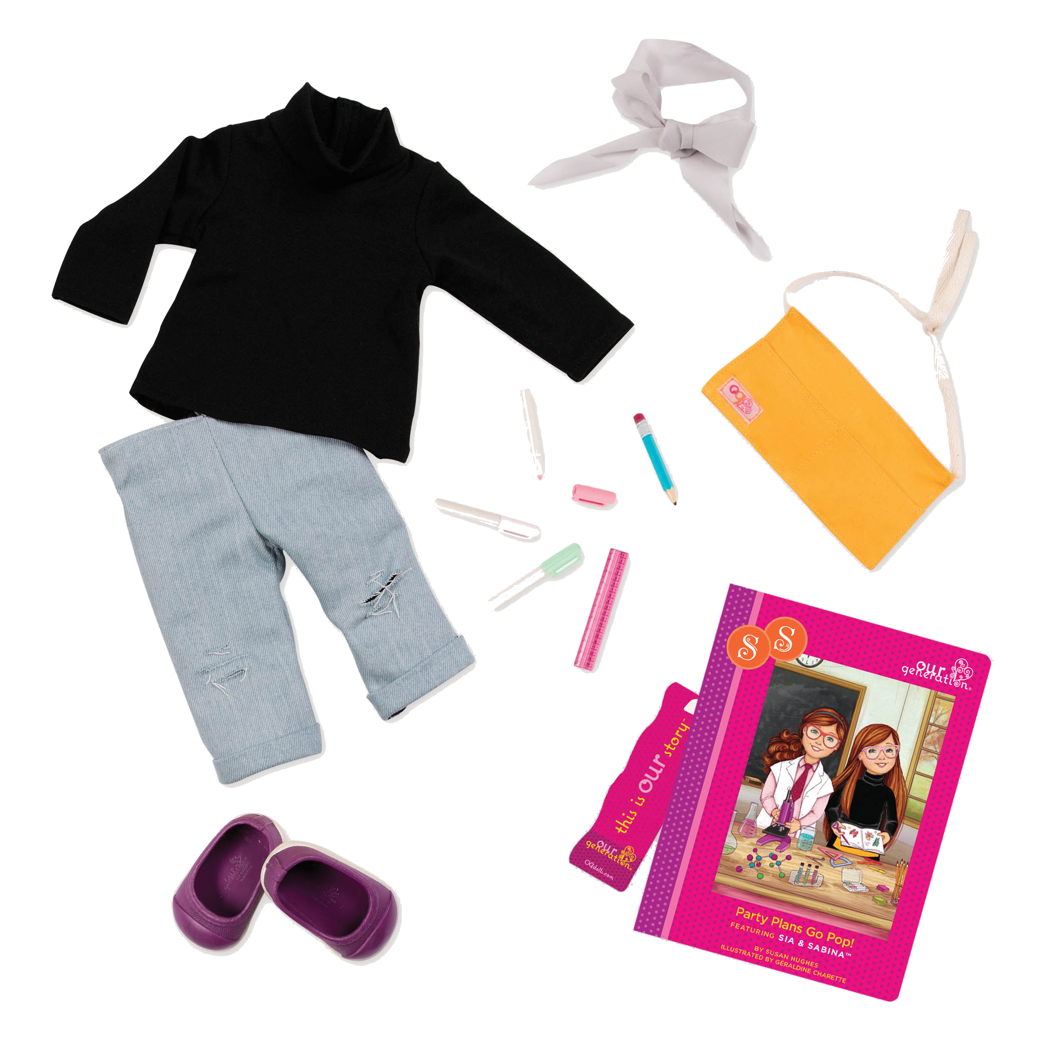 Sabina Read & Play - Outfit and Book Set for 18-inch Dolls