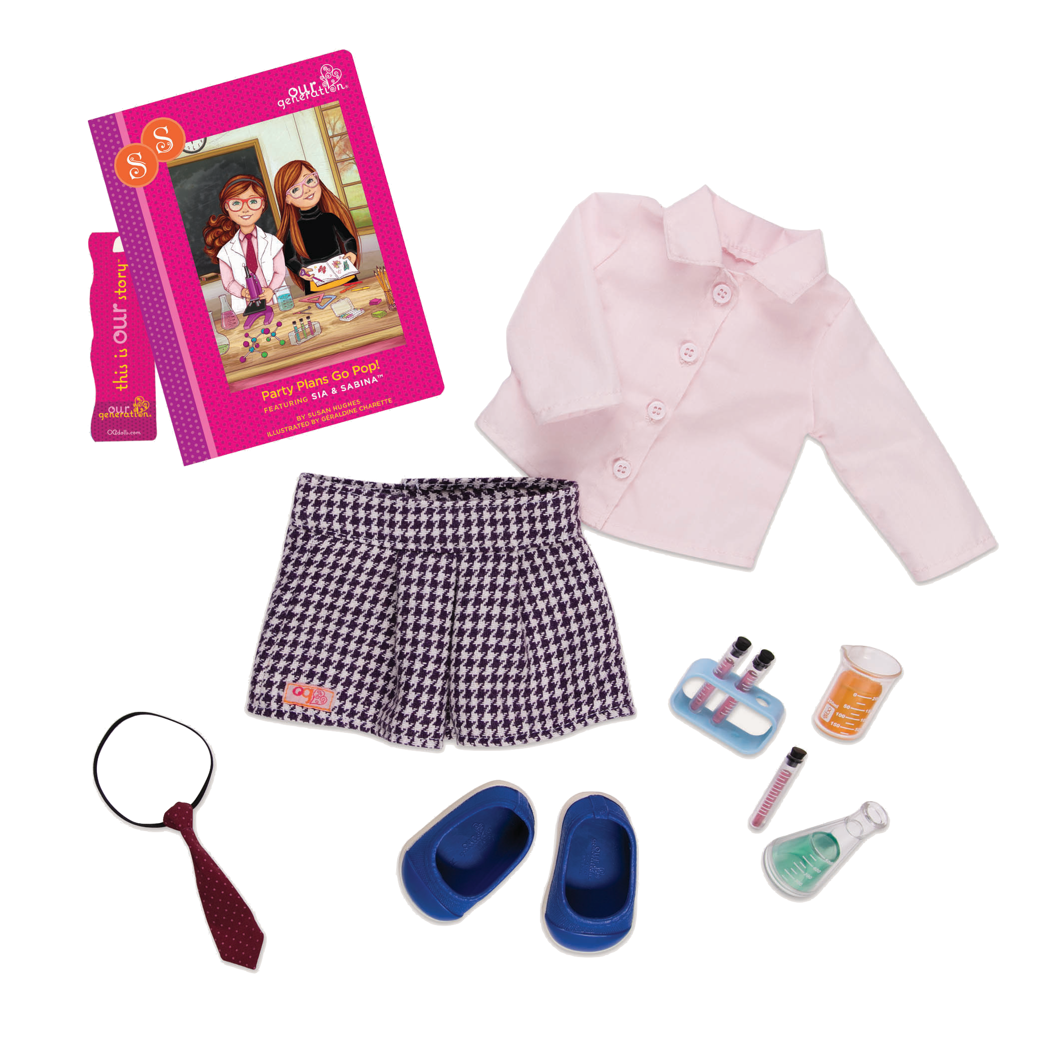 Sia Read & Play - Outfit and Book Set for 18-inch Dolls