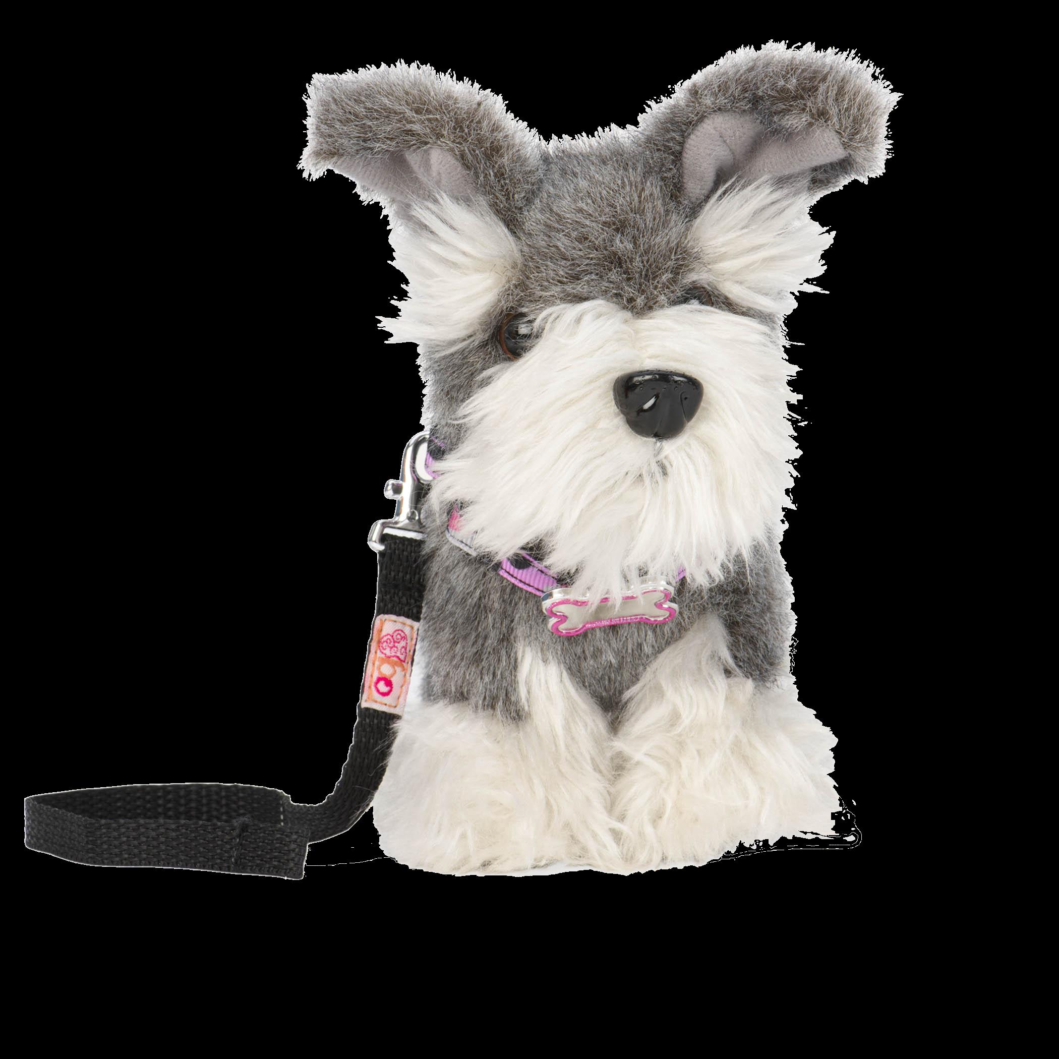 Schnauzer pup 6 inch plush puppy
