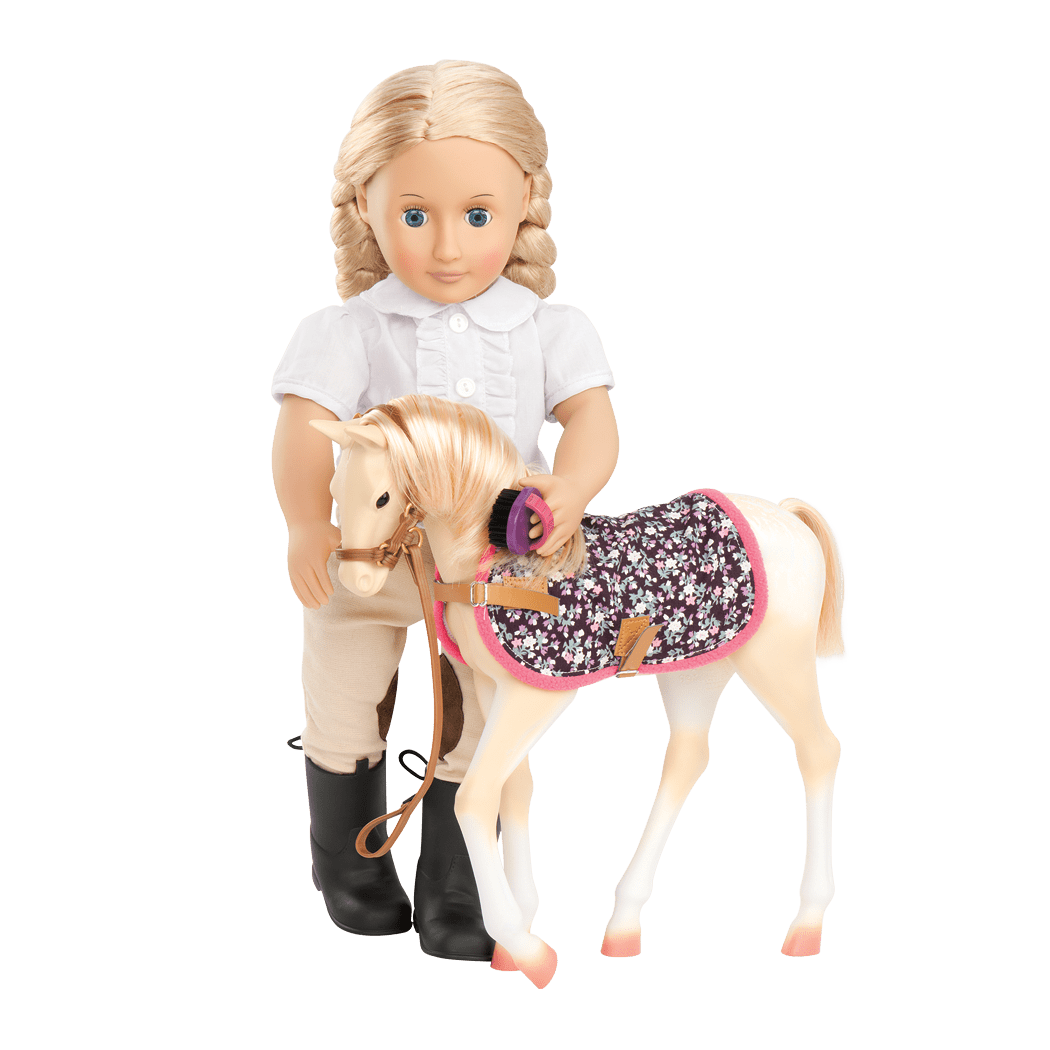 Palomino Foal with Lily Anna Doll02