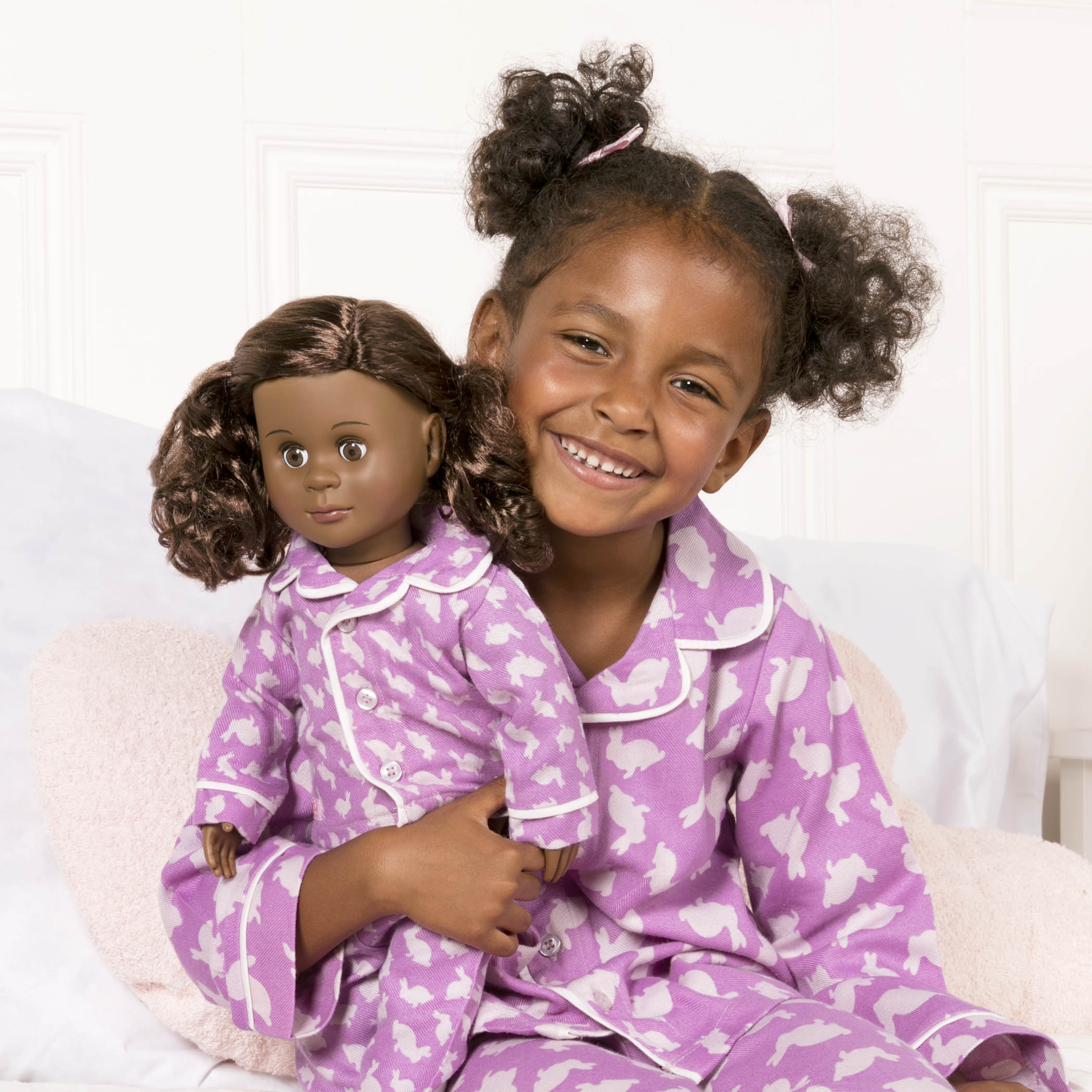 Me and You Bunny Pajamas with girl and Hadia doll