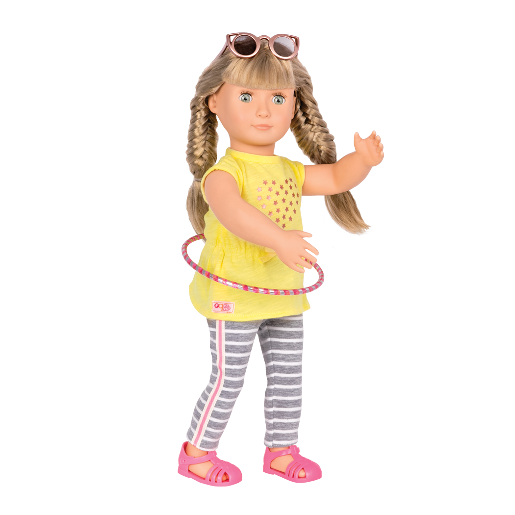 Hula Hurray outfit for 18inch dolls Lorelei doing hula