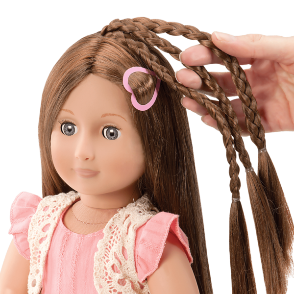BD37017A Parker Pink Dress Hairplay Doll hairgrow detail01