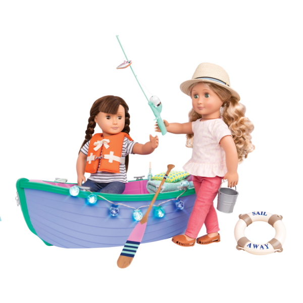 Row Your Boat Set Brielle fishing Reese in boat