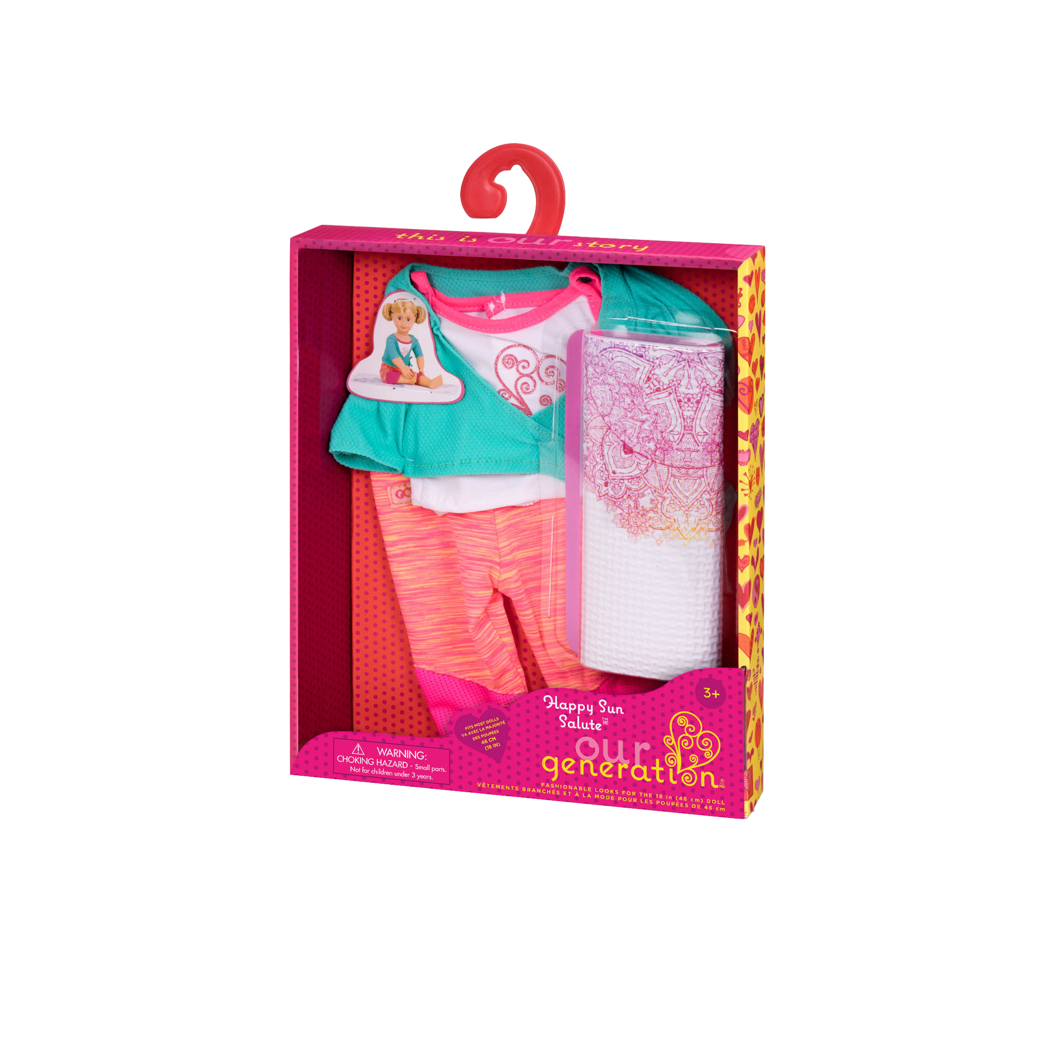 Happy Sun Salute yoga Outfit package