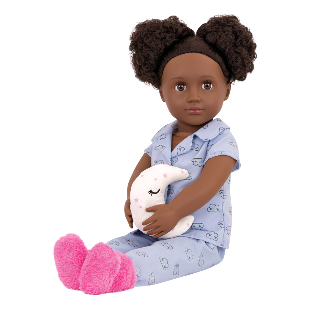 Gloria 18-inch Sleepover Doll sitting down