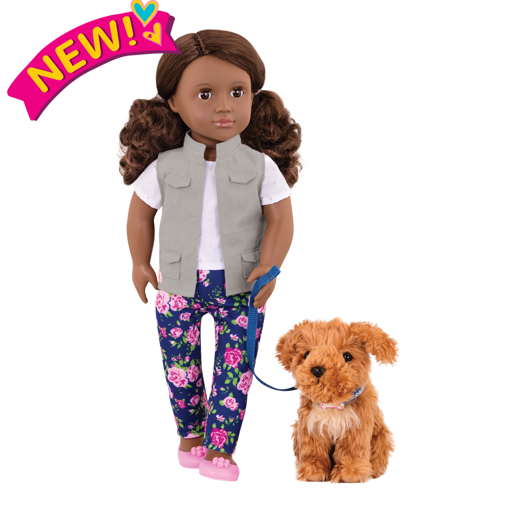 Malia and Poodle 18-inch doll and Pet