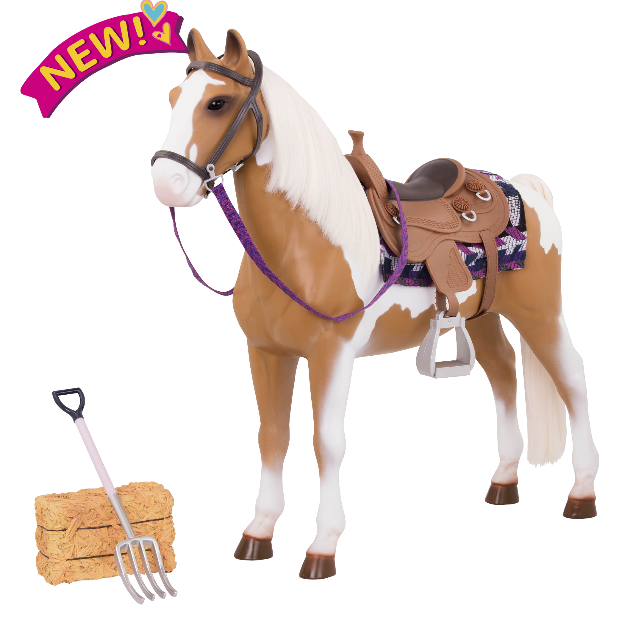 20-inch Stable Horse Toy for Dolls