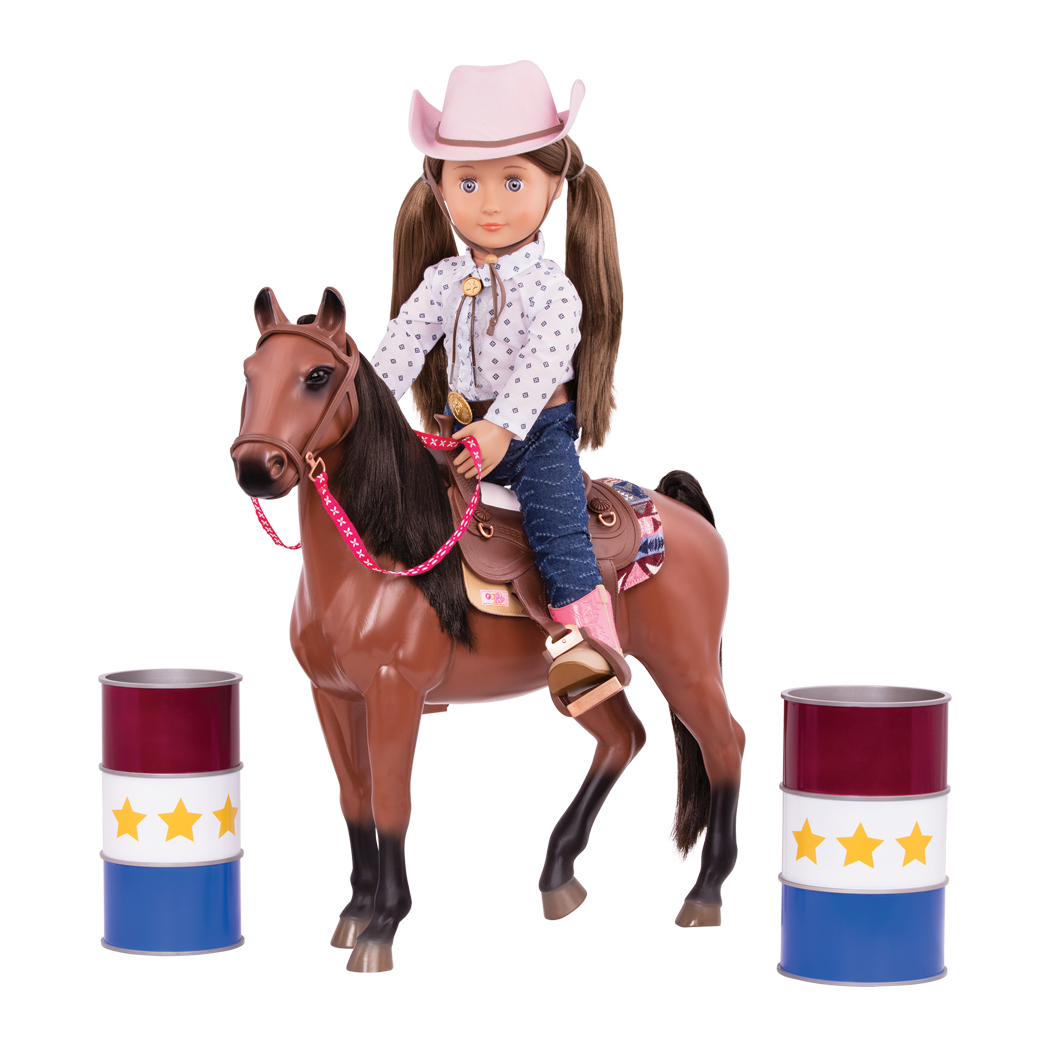 Barrel Racing Set with Darcy Lynn riding Horse