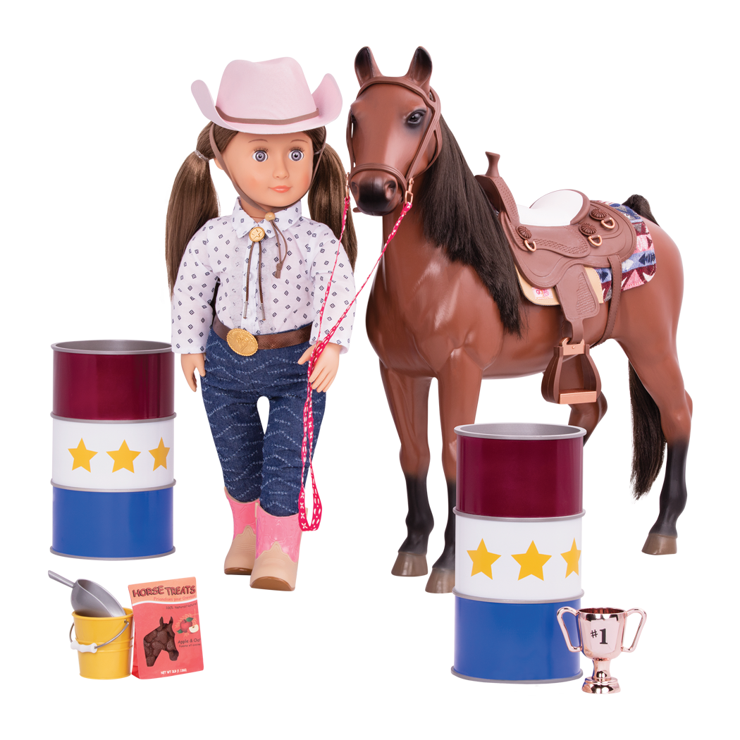 Barrel Racing Set with Darcy Lynn and horse