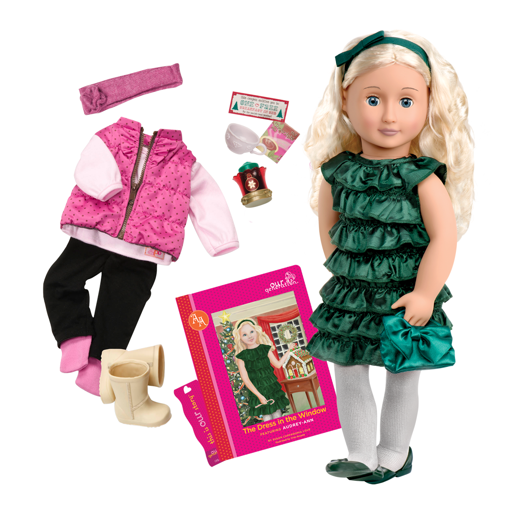 Audrey Ann Deluxe 18-inch Doll with Storybook