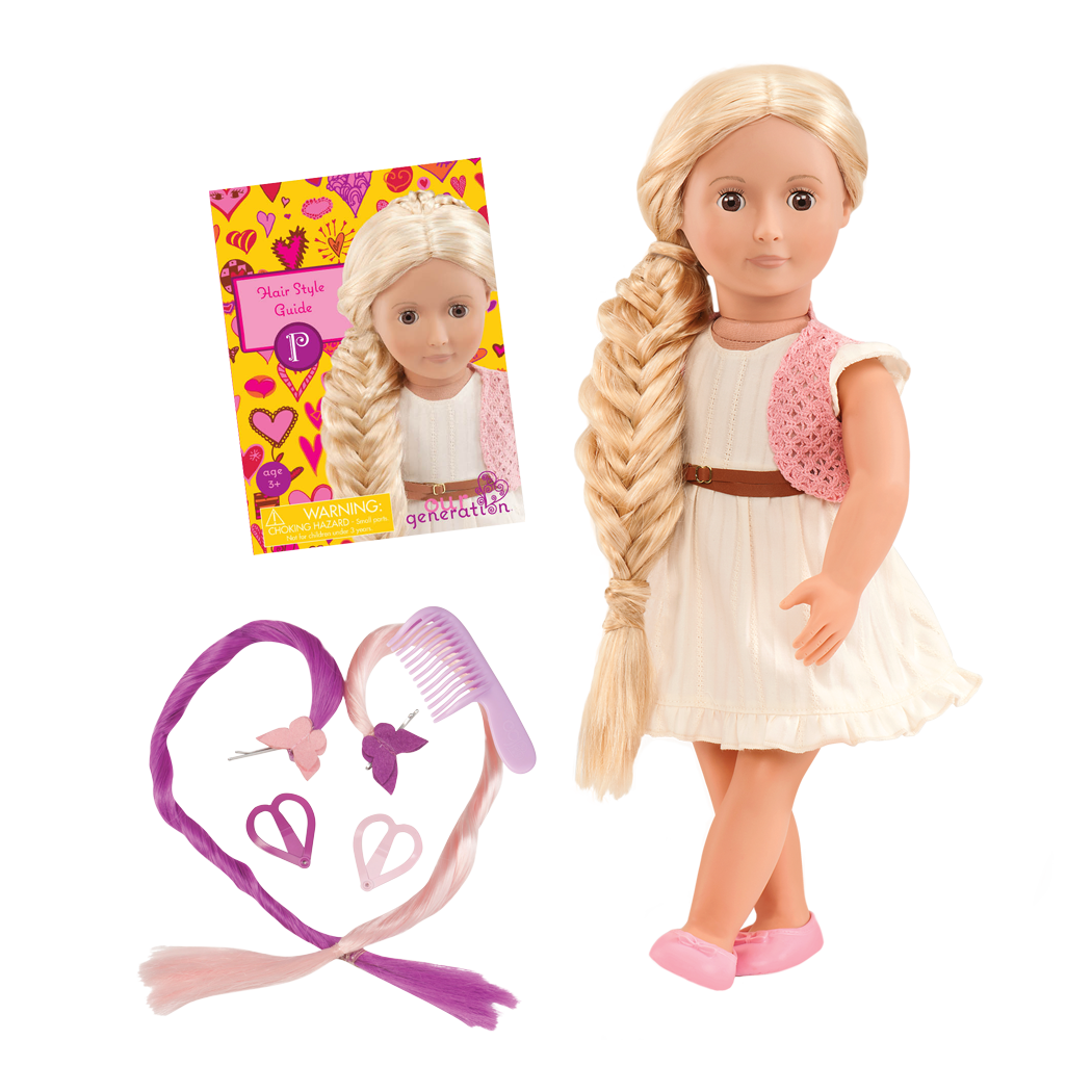 Phoebe 18-inch Hairplay Doll with White Dress