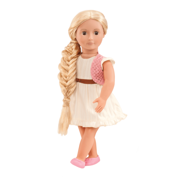 BD31028A Phoebe Hairplay Doll with fishtail braid