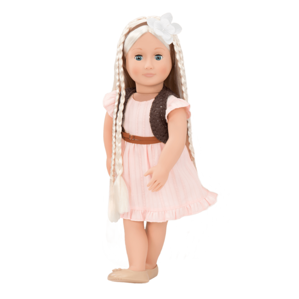BD31043 Penny Hairplay Doll wearing braids03