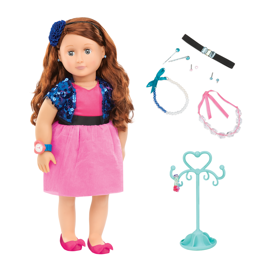 Aura 18-inch Jewelry Doll with Earrings