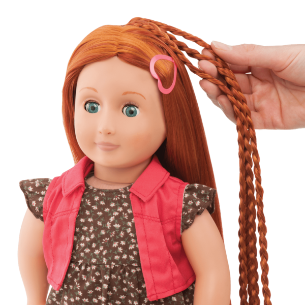 BD31054 Peyton Hairplay Doll hair extension detail01