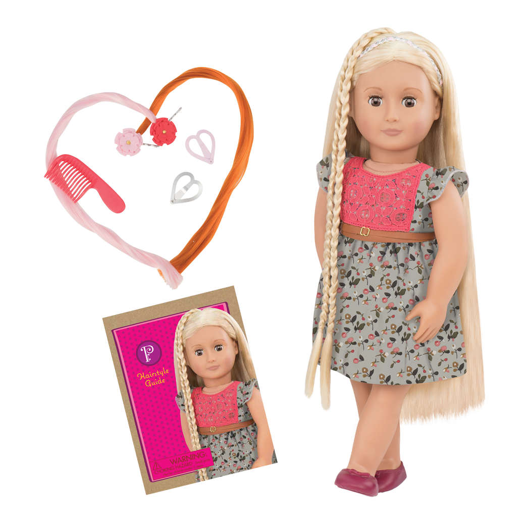 BD31072 Phoebe Floral Dress Hairplay Doll all components