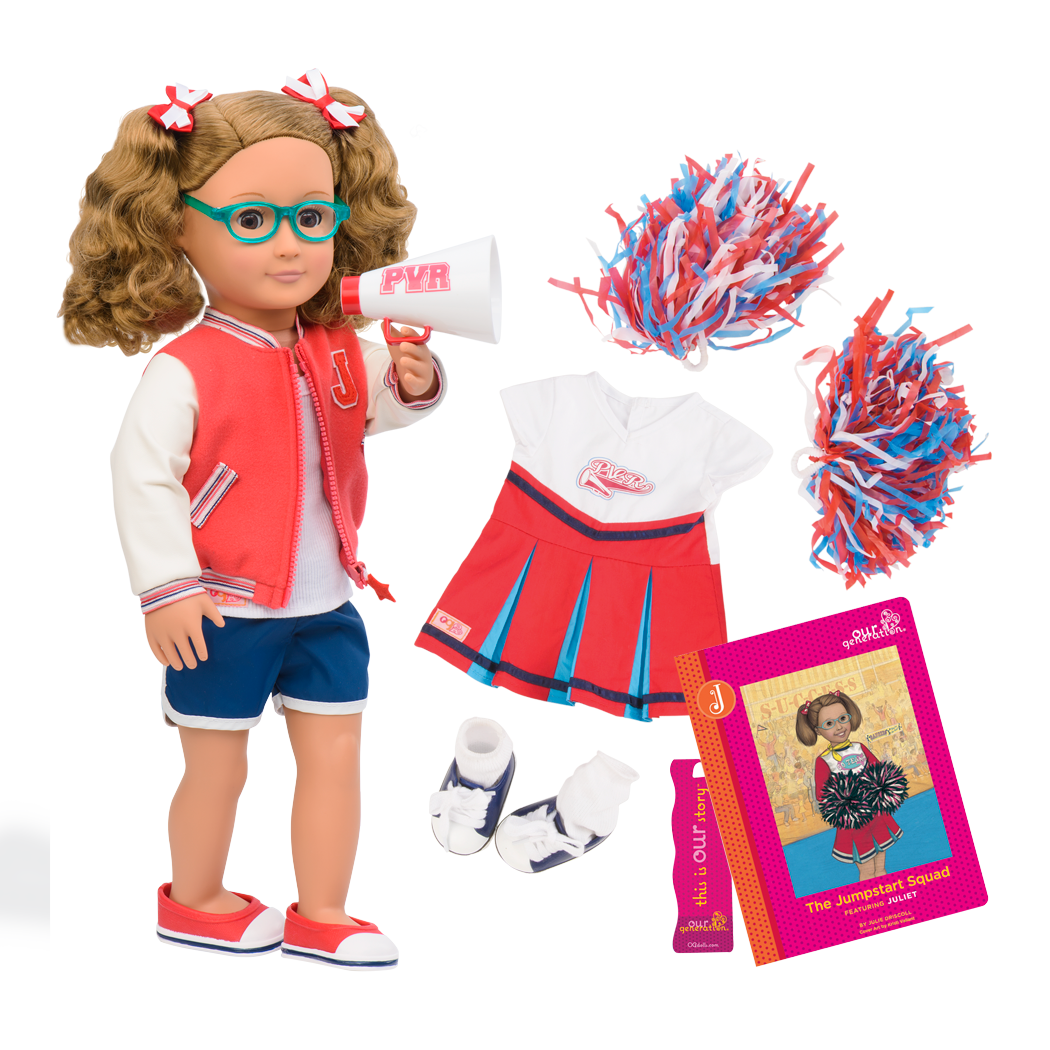 Juliet Deluxe 18-inch Cheerleader Doll with Storybook
