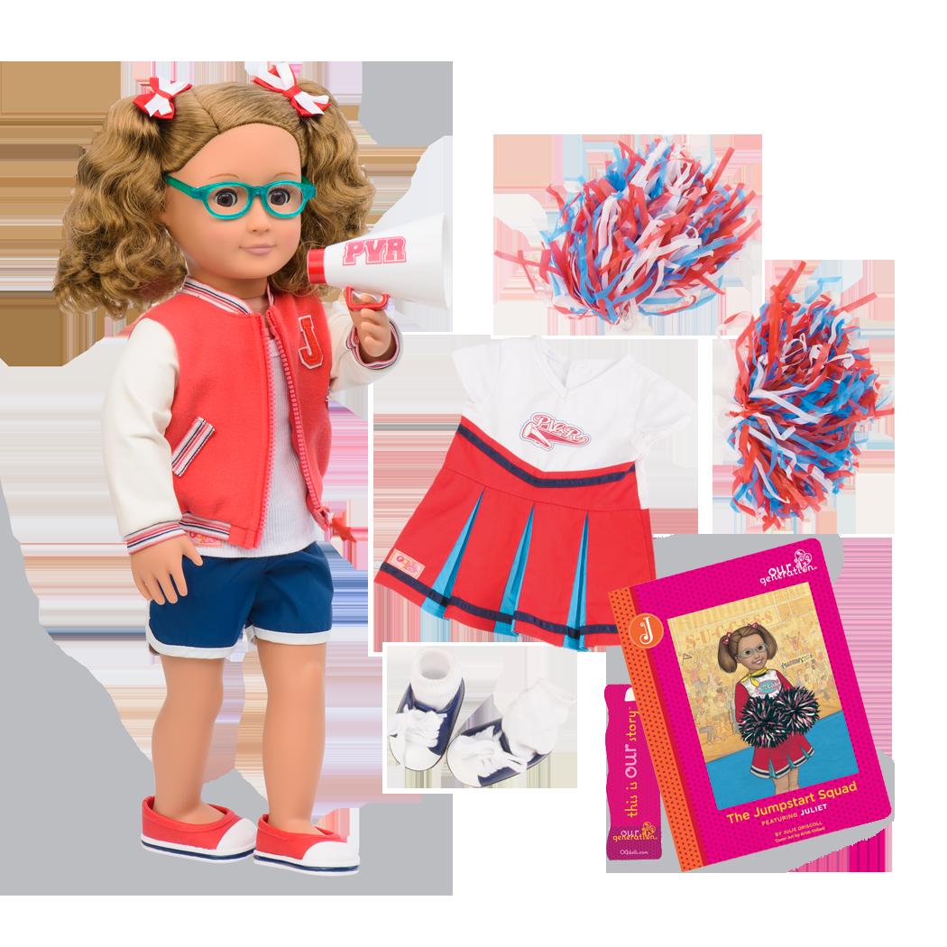 Juliet Deluxe 18-inch Cheerleader Doll with Storybook