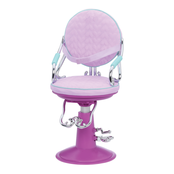 Sitting Pretty Salon Chair Lilac Hearts chair