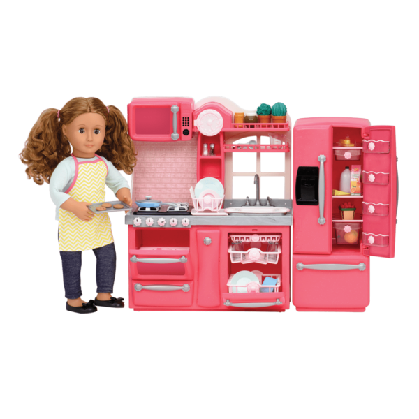 Gourmet Kitchen Set Pink with Isa doll