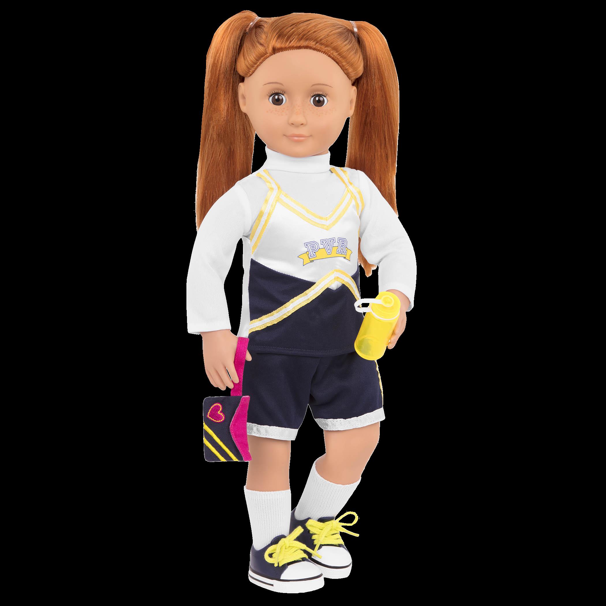 Cheerleader Camp Set Noa doll wearing uniform