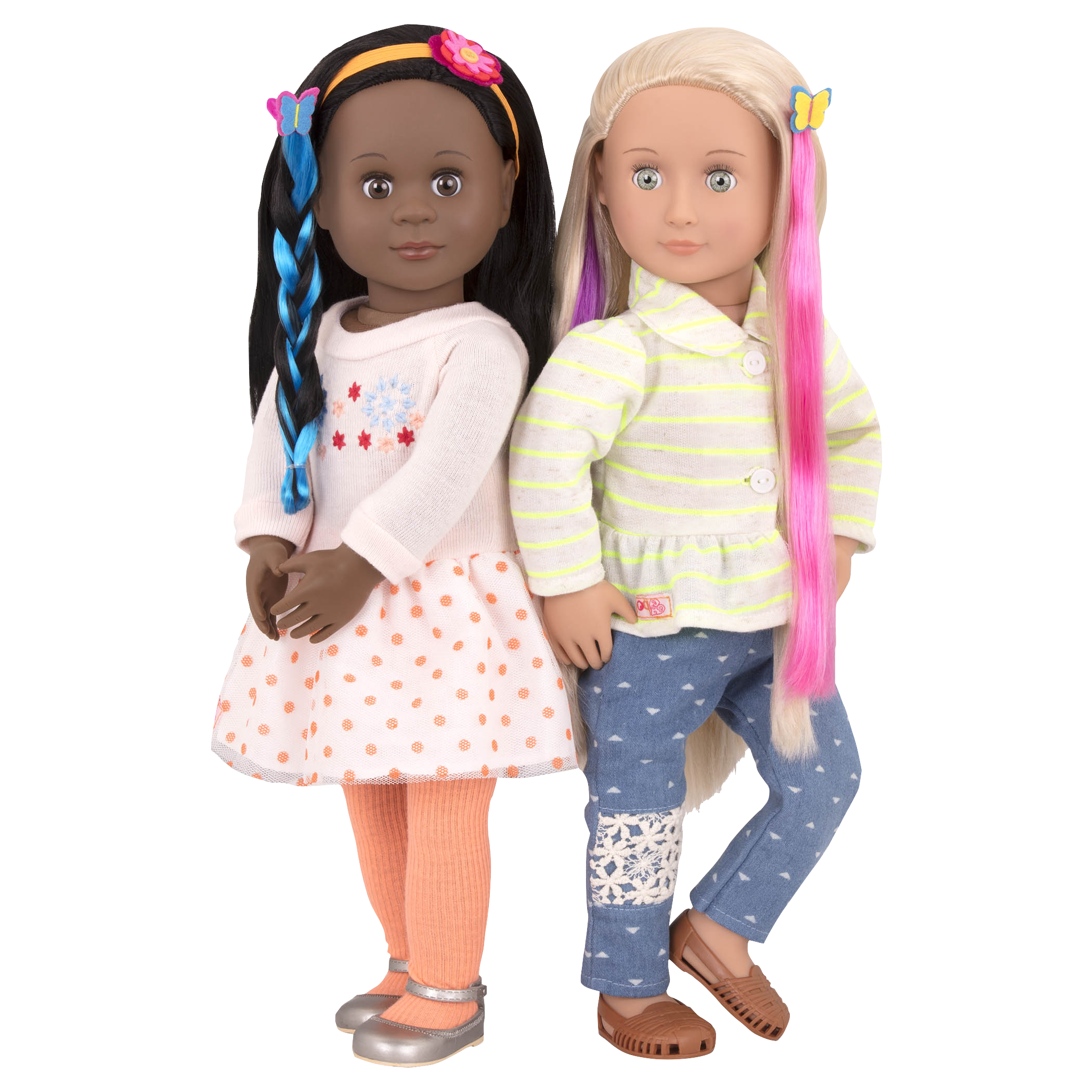 Attached at the Clip Maeva andNaya dolls earing hair accessories