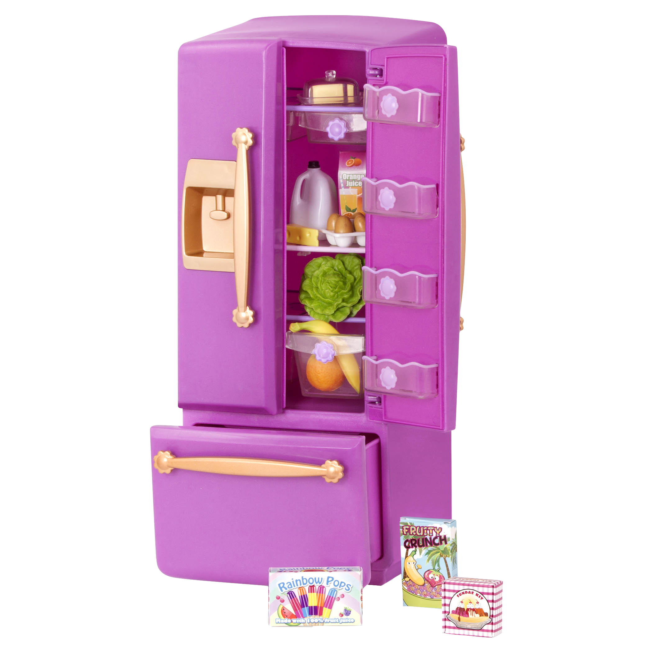Purple Gourmet Kitchen Dollhouse Cooking Furniture Our
