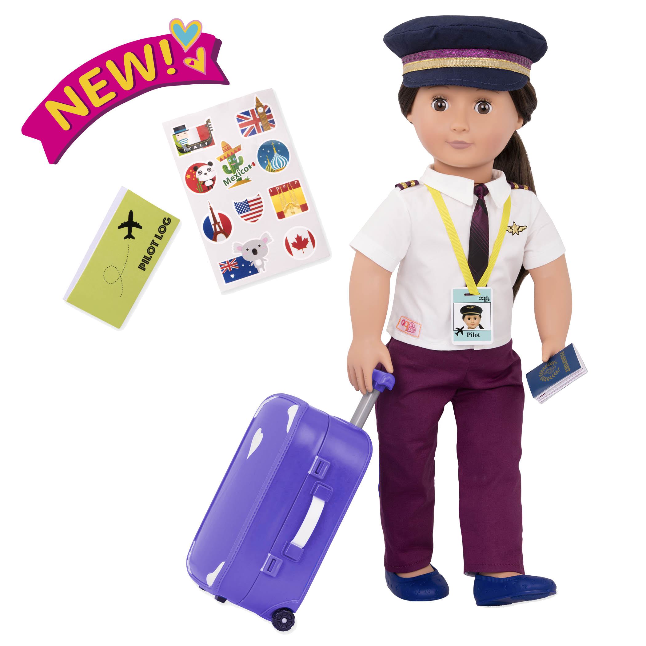 Kaihily 18-inch Pilot Doll