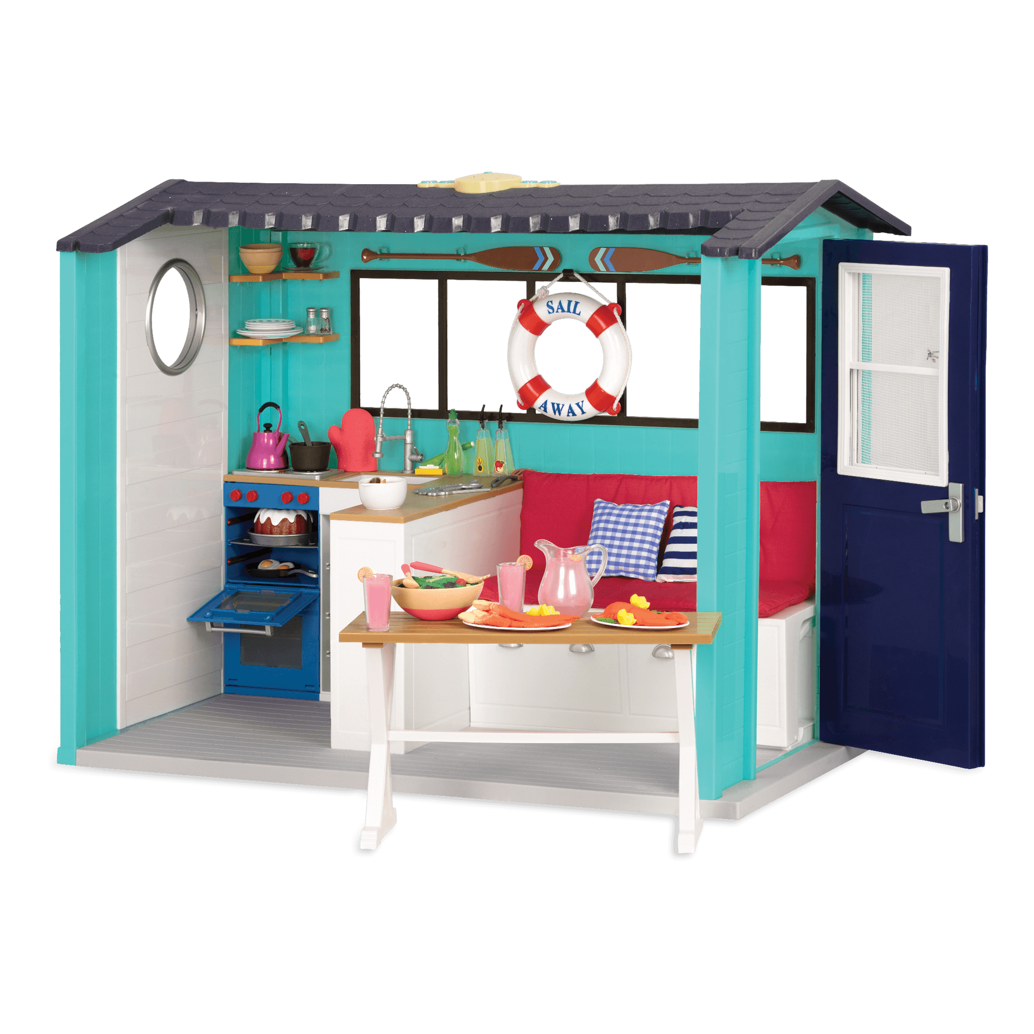 Seaside Beach House playset for 18-inch Dolls