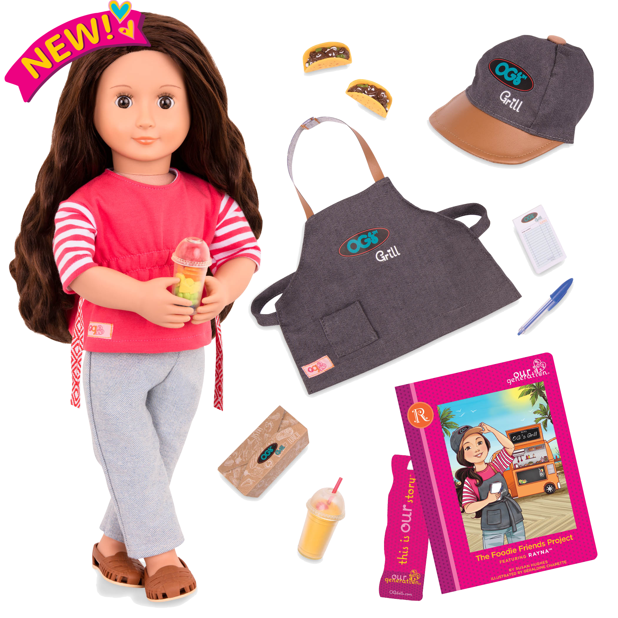 Rayna Deluxe 18-inch Food Truck Doll with Storybook