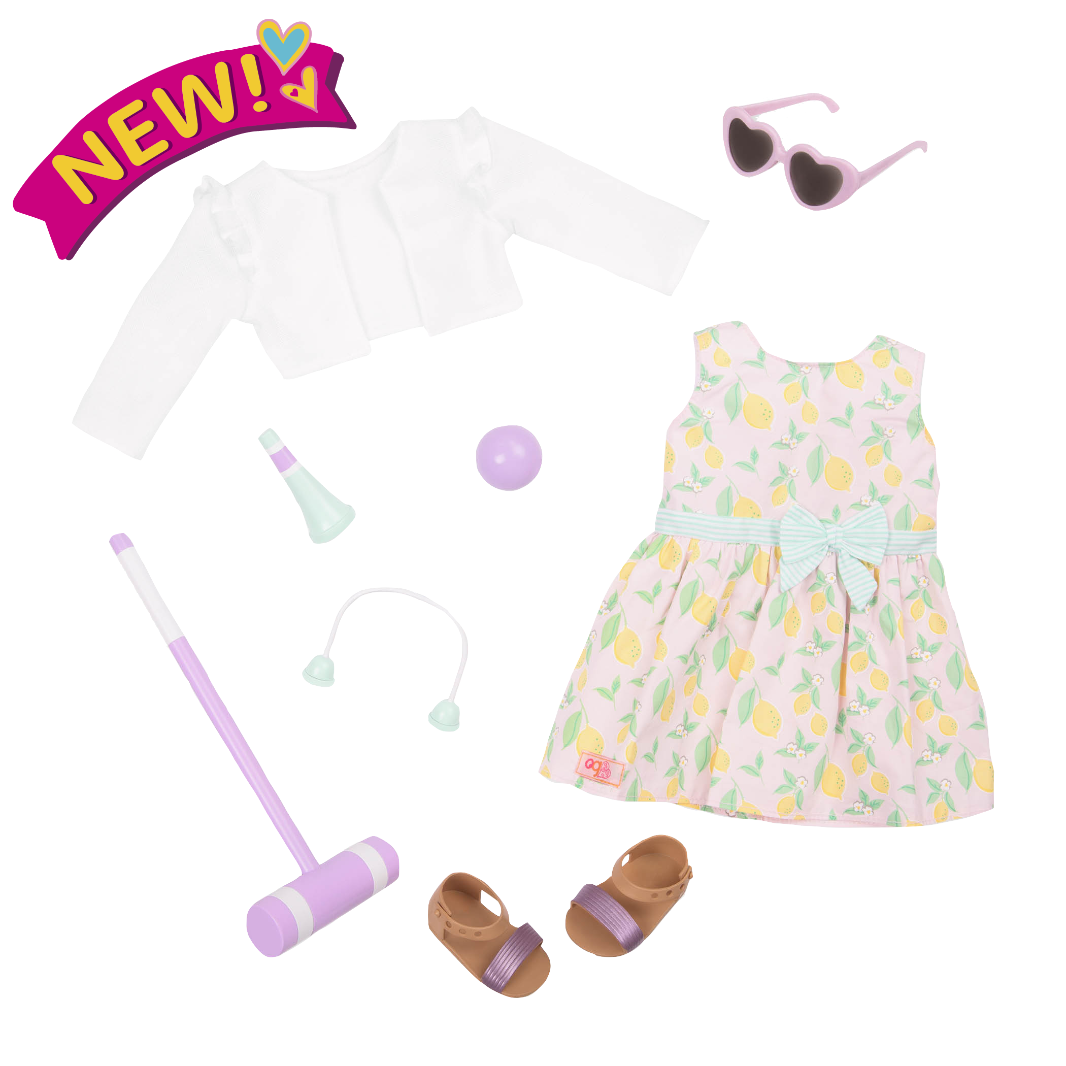 Croquet Play Deluxe Outfit for 18-inch Dolls