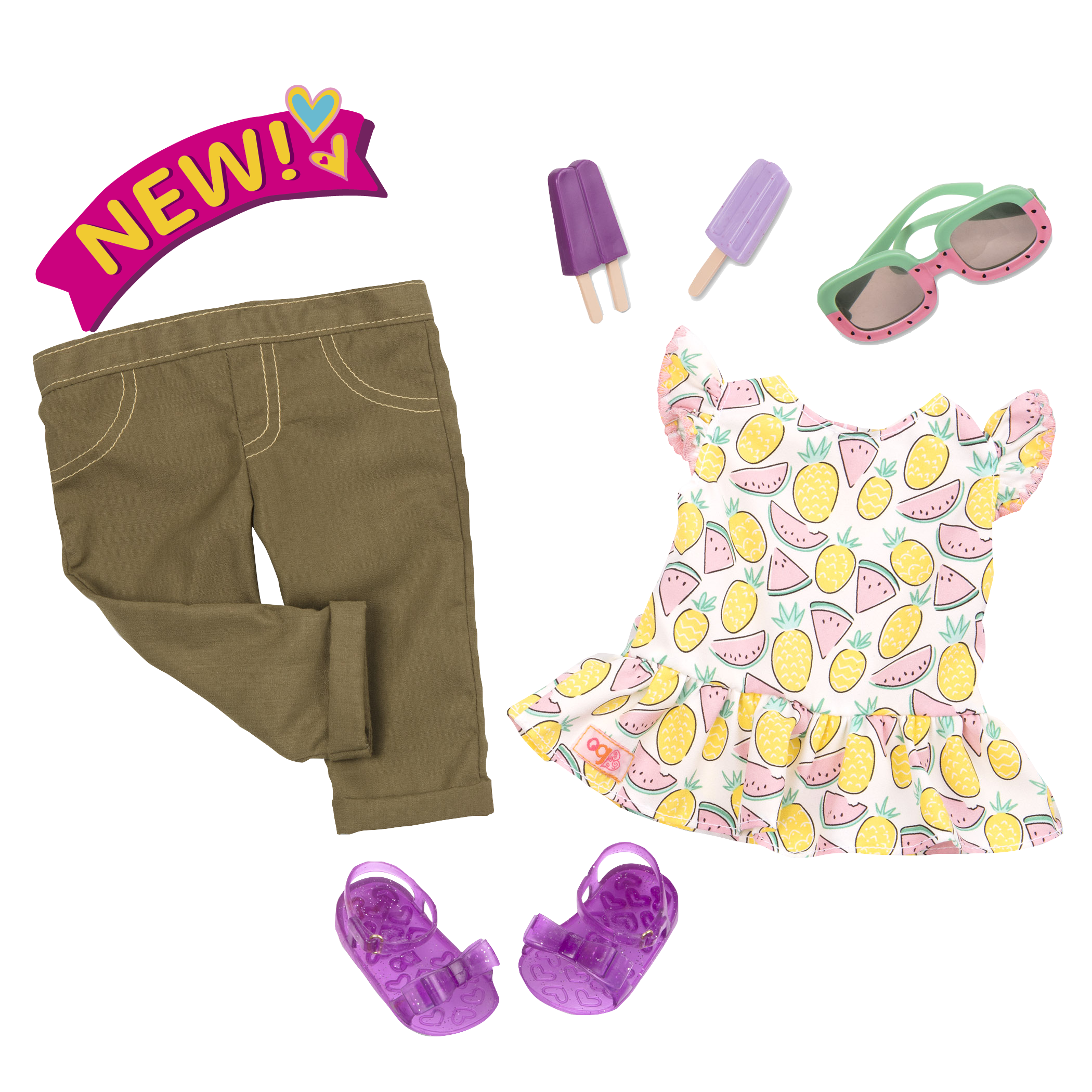 Cutie Fruity Summer Outfit for 18-inch Dolls