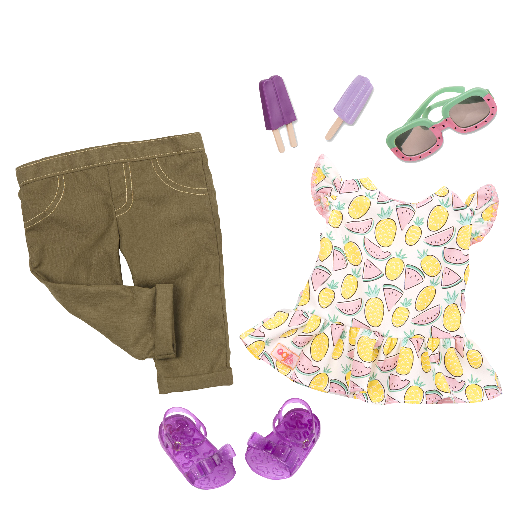 Cutie Fruity outfit all components