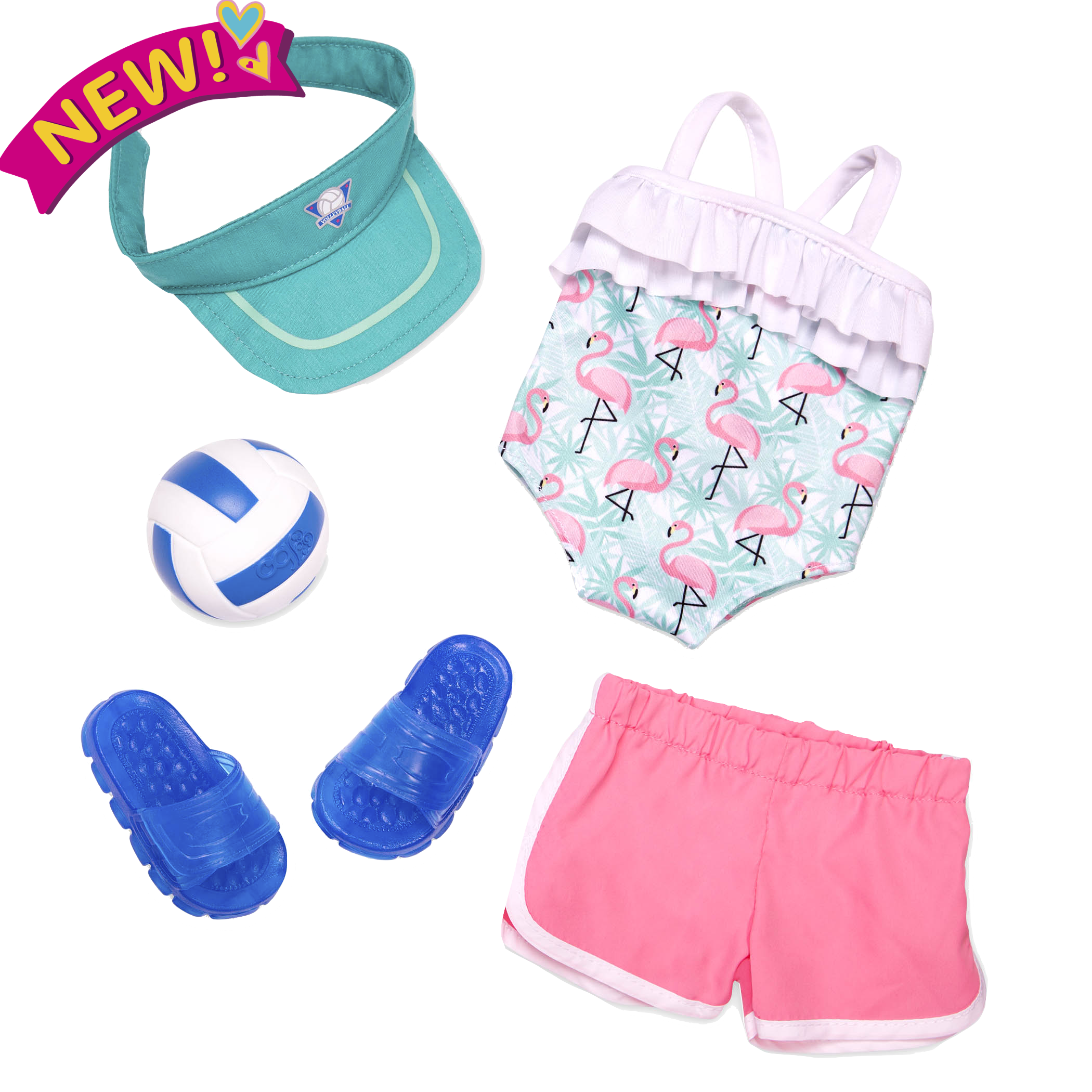 Ace Attire volleyball outfit all components