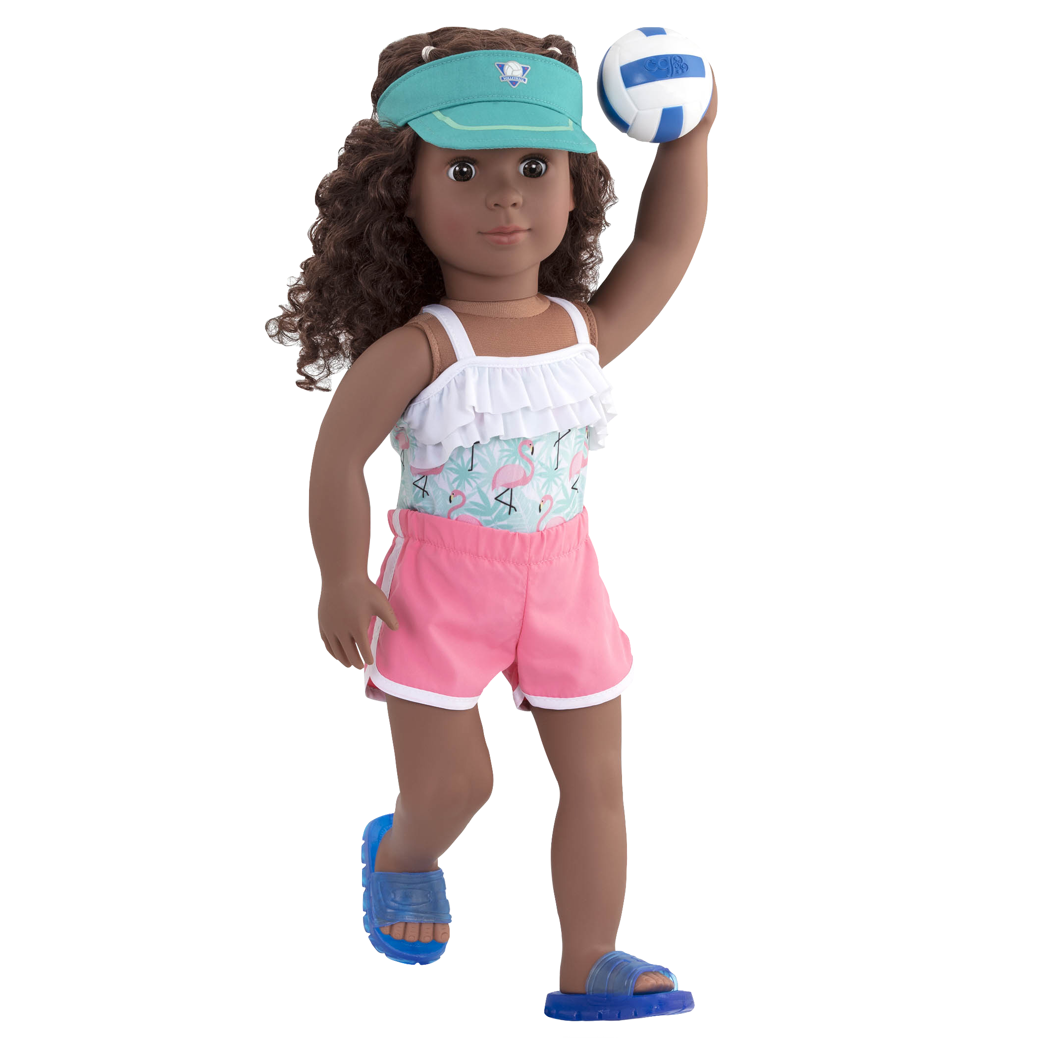 Ace Attire volleyball outfit Dedra raising ball