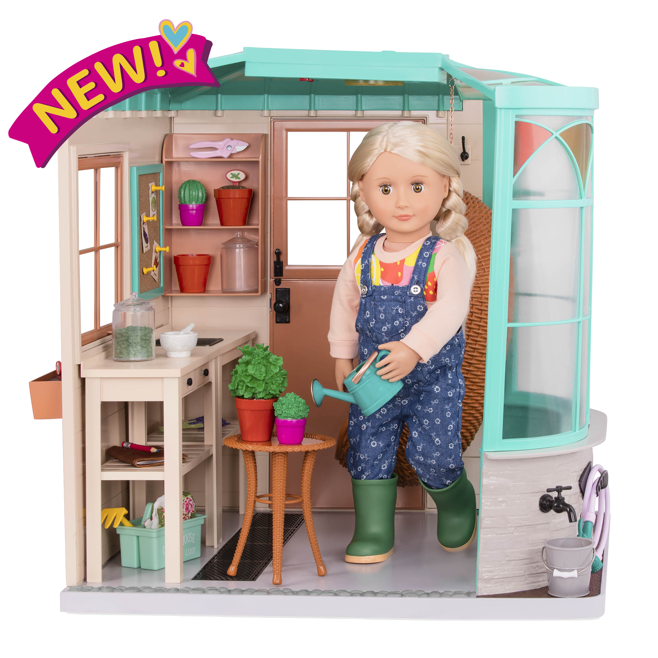 Room to Grow Greenhouse Playset for 18-inch Dolls