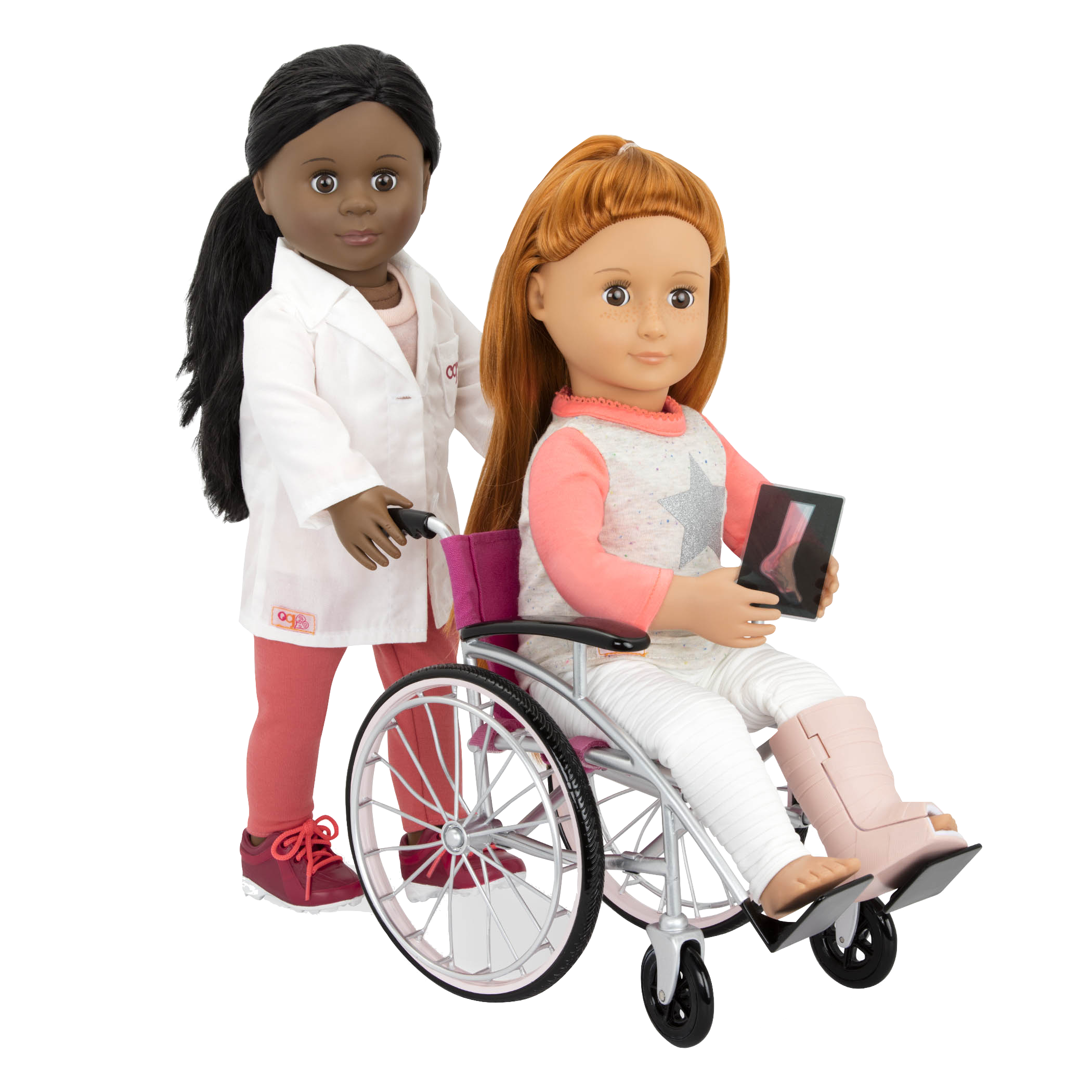 Heals on Wheels medical Accessories Dr Meagann pushing Noa in wheelchair