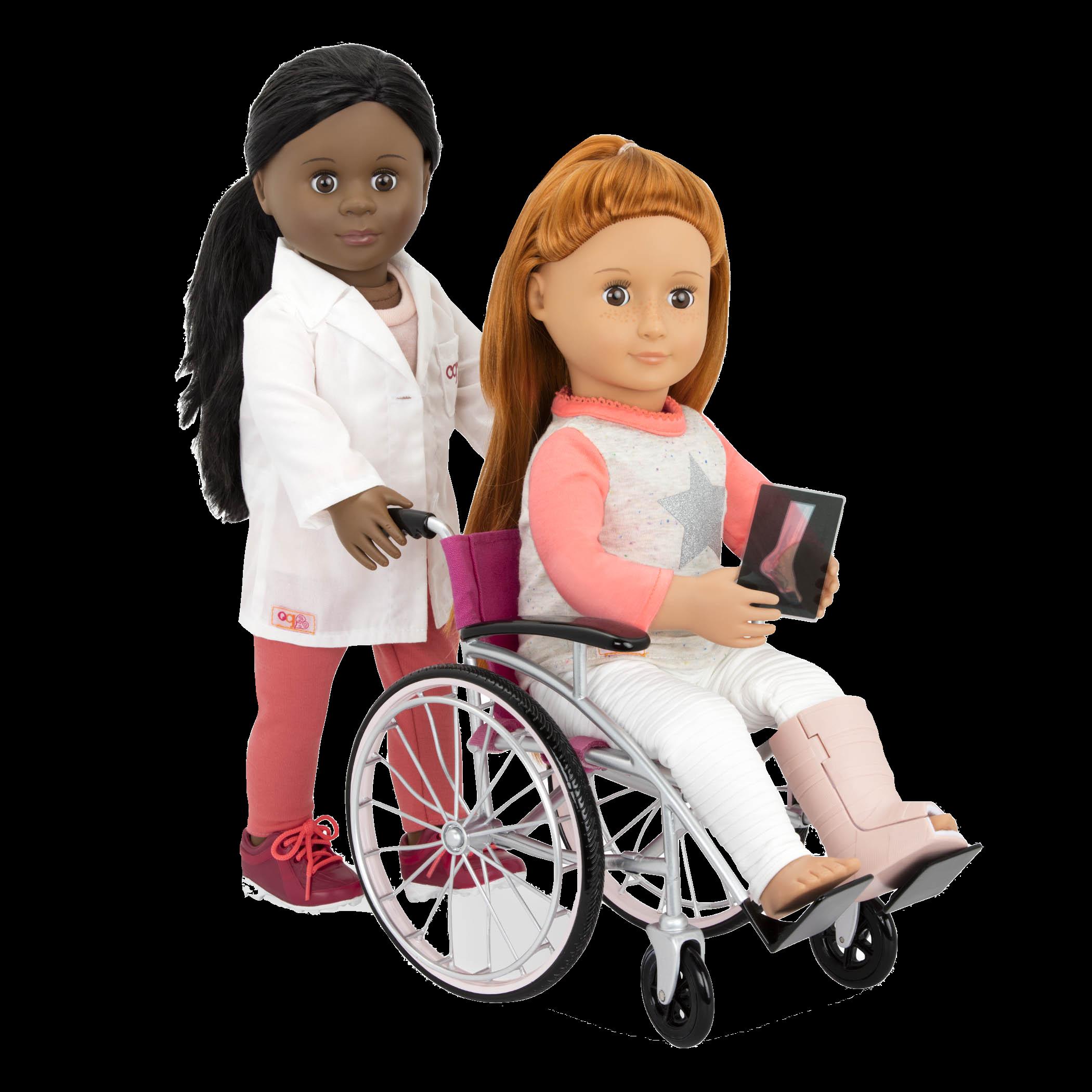 Heals on Wheels medical Accessories Dr Meagann pushing Noa in wheelchair