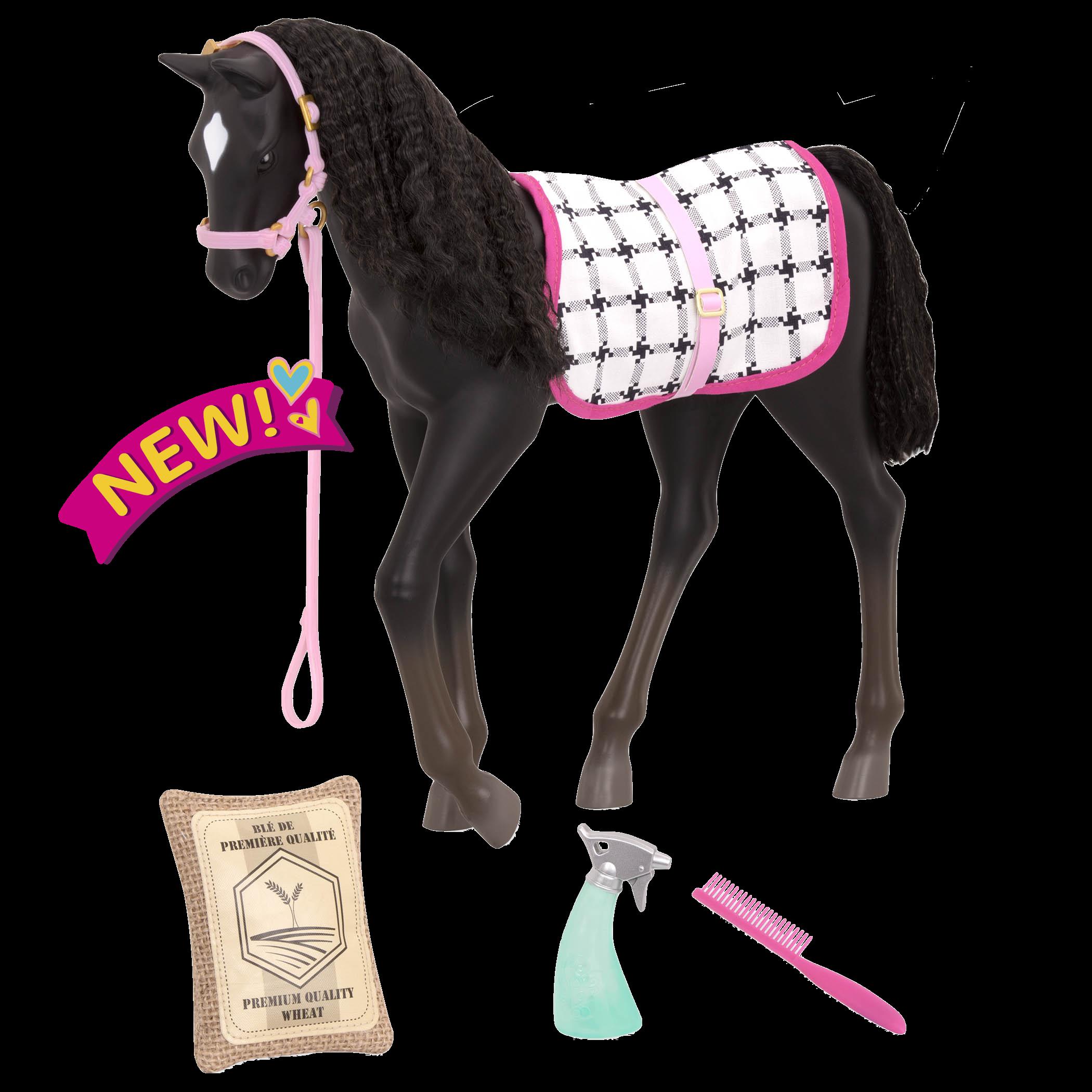 Black Velvet Foal 12-inch Toy Horse